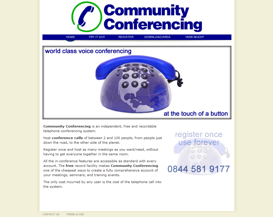 conference call business web design