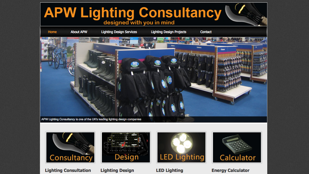 Lighting consultant web design yorkshire internet for Web design consultant