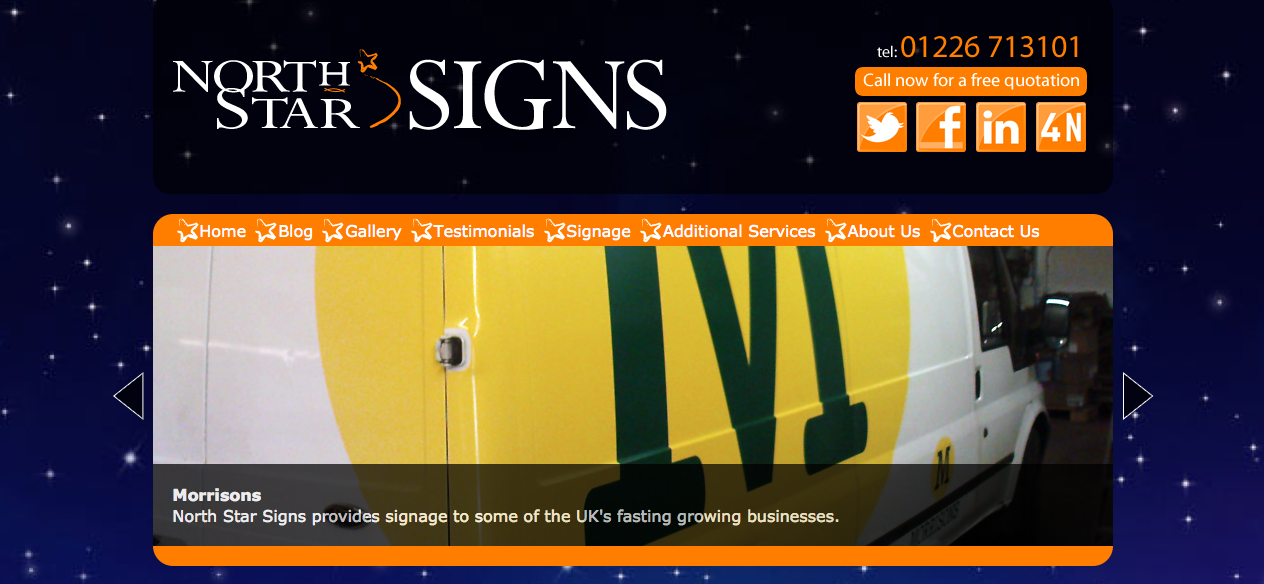 sign makers web design